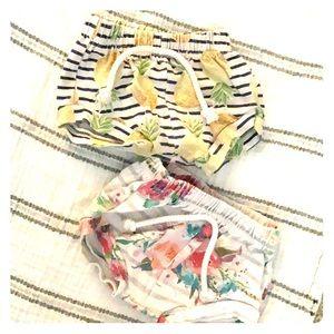Baby girl handmade shorties 6/9 months